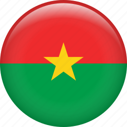 burkina faso, country, flag, nation icon