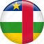 central african republic, country, flag, nation icon