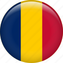 chad, country, flag, nation
