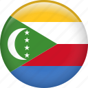 comoros, country, flag, nation icon