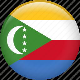 comoros, country, flag, nation icon