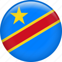 country, democratic republic of the congo, dr congo, drc, flag, nation icon