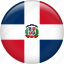 country, dominican republic, flag, nation icon
