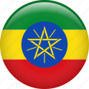 country, ethiopia, flag, nation icon