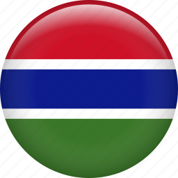country, flag, gambia, nation, the gambia icon