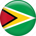 guyana, country, flag, nation icon