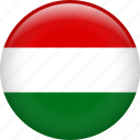 country, flag, hungary, national icon