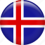country, flag, iceland, nation icon