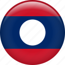 laos, country, flag, nation