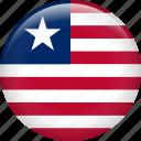liberia, country, flag, nation icon