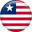 country, flag, liberia, nation icon