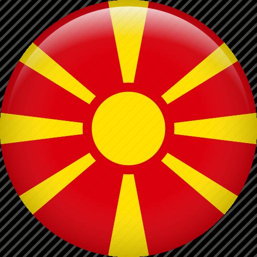 country, flag, macedonia icon