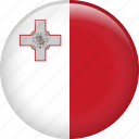 country, flag, malta, nation icon