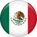country, flag, mexico, nation icon