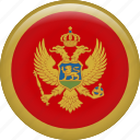 country, flag, montenegro, nation icon