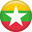 myanmar, country, flag, nation