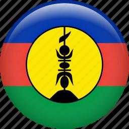 flag, nation, new caledonia icon