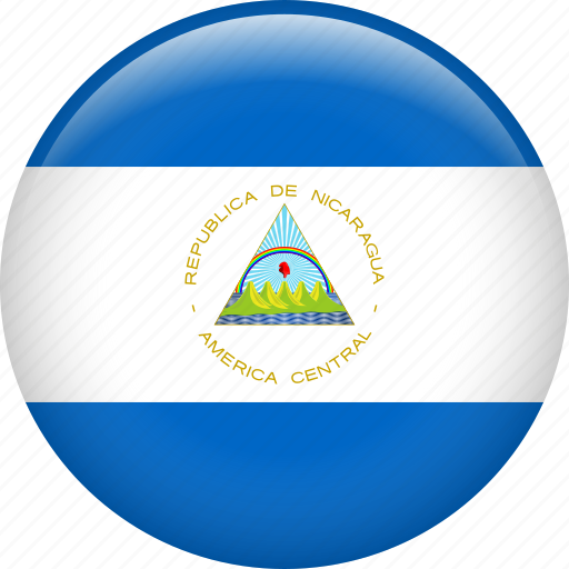 Nicaragua, country, flag, national icon - Download on Iconfinder