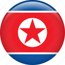 country, flag, korea, nation, north korea icon