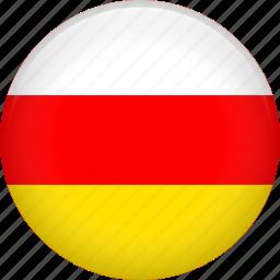 country, flag, nation, ossetia icon