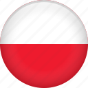 country, flag, nation, poland icon