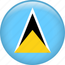 country, flag, nation, saint lucia icon
