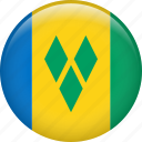 country, flag, nation, saint vincent and the grenadines icon