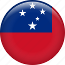 samoa, country, flag, nation icon