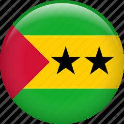 country, flag, nation, sao tome and principe icon