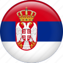 country, flag, nation, serbia icon