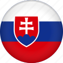 country, flag, national, slovakia icon