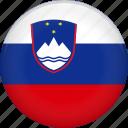 slovenia, country, flag icon