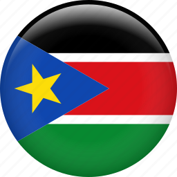 country, flag, nation, south sudan icon