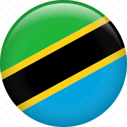 country, flag, nation, national, tanzania icon