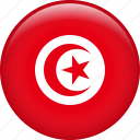 country, flag, nation, national, tunisia icon