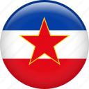 country, flag, nation, yugoslavia icon