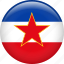 country, flag, nation, yugoslavia icon