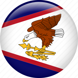 american samoa, country, flag, nation icon