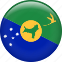 christmas island, country, flag, nation icon