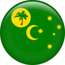 cocos island, country, flag, nation icon