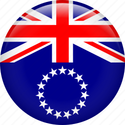 cook islands, country, flag, nation icon