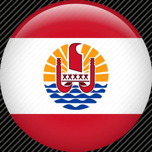 country, flag, french polynesia, nation icon
