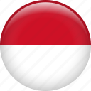 indonesia, country, flag, nation icon