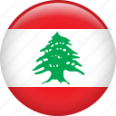 country, flag, lebanon, nation icon