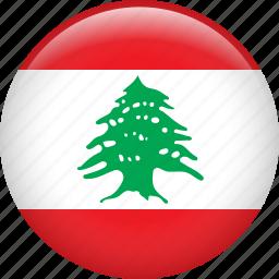 country, flag, lebanon, nation icon