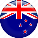 country, flag, nation, new zealand icon