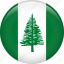 country, flag, nation, norfolk island icon