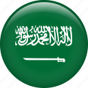 country, flag, nation, saudi arabia icon