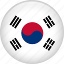 country, flag, korea, nation, south korea icon