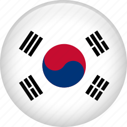country, flag, korea, nation, south korea icon